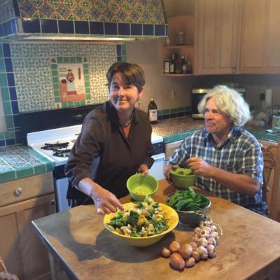 Kristen Davenport and her husband, Avrum Katz, work their family farm, Boxcar Farms, in Llano in the Sangre de Cristo Mountains of southern Taos County.