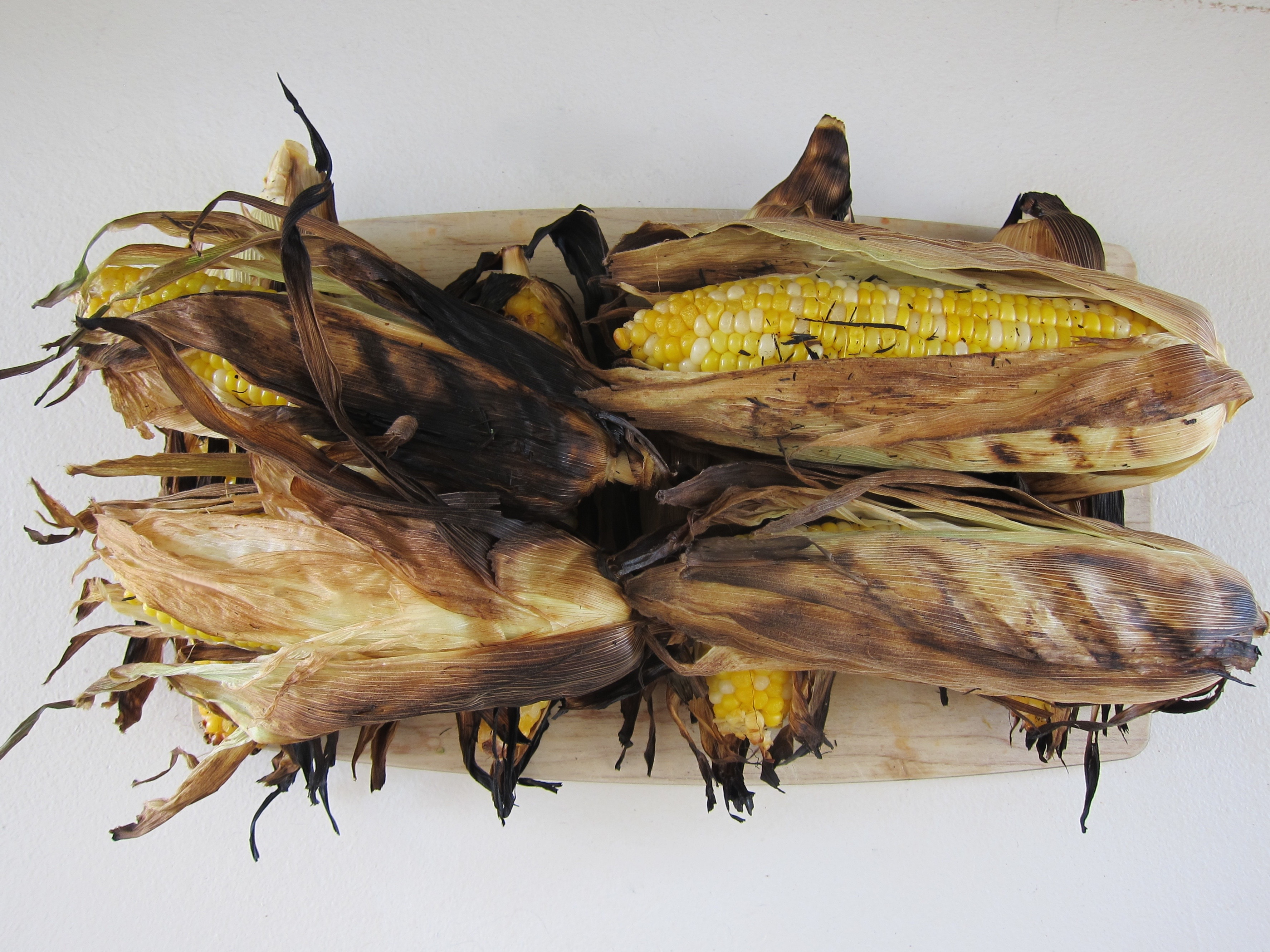 Grilled corn on the cob is a special treat, reserved for seasonal summer eating.