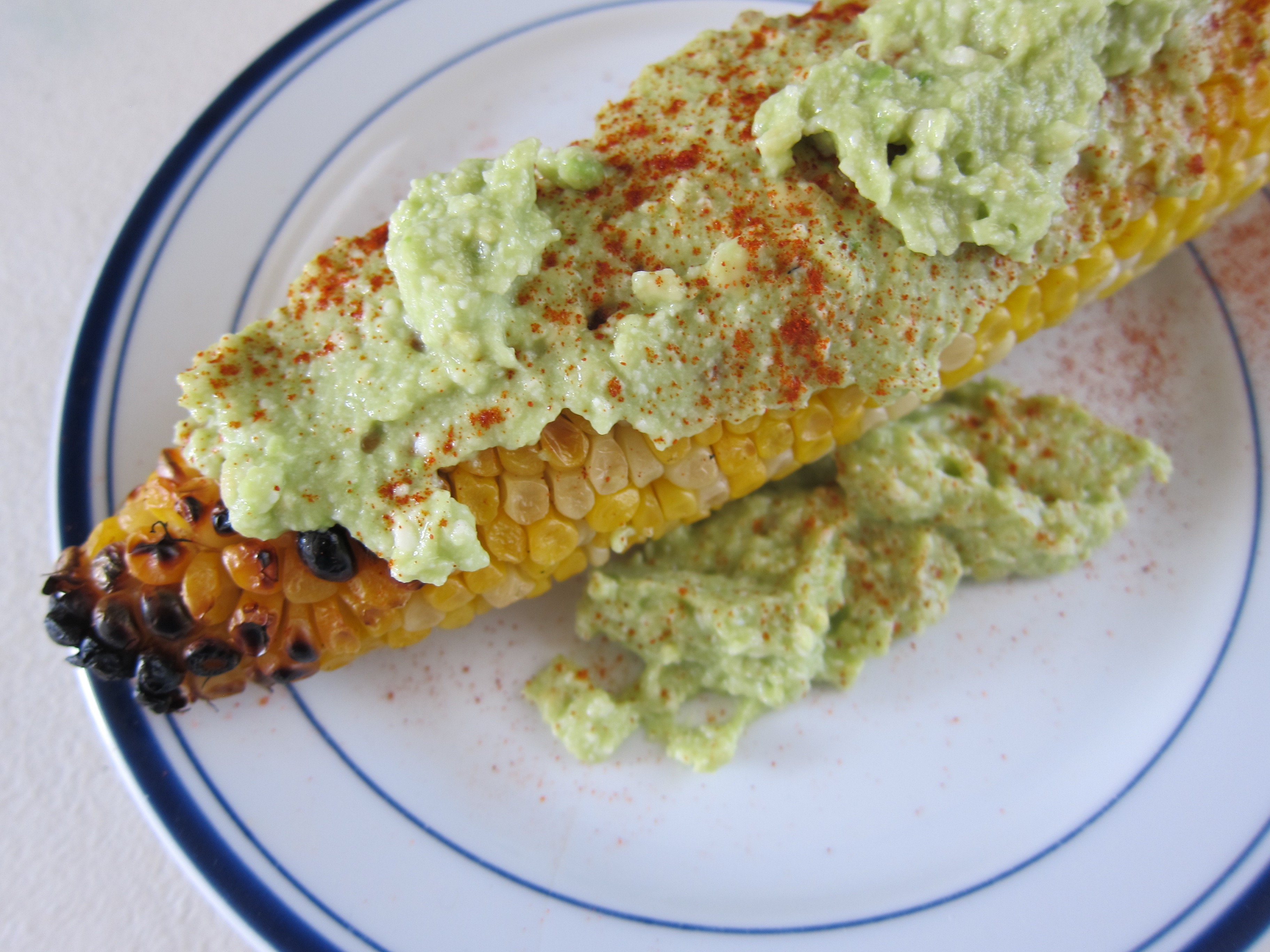 Our spread made with avocado, queso fresco, and fresh lime is a perfect spread for grilled corn on the cob.