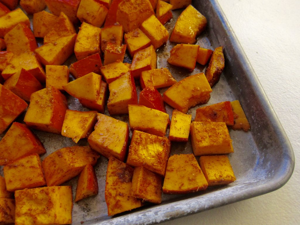 Winter squashes such as red kuri, hubbard, delicate, or butternut are good choices for this dish.