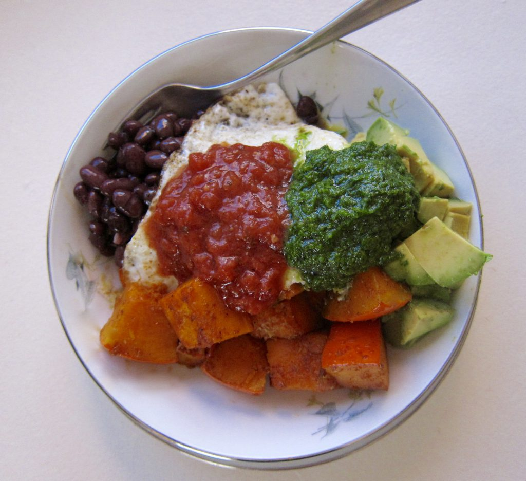 Winter squash is a flavorful, healthy addition to burrito bowls.