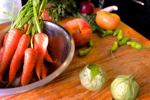 Fresh produce from local farmers' markets keeps food seasonally fresh at TerraCotta Wine Bistro in Santa Fe.
