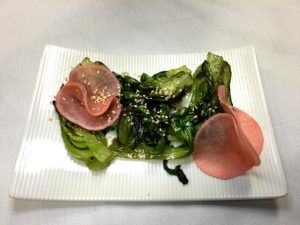 Thai Charred Bok Choy with Pickled Radish is tasty and light. (Denise Miller/For The Albuquerque Journal)