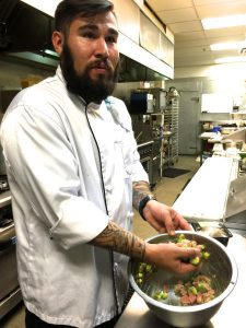 "DENISE MILLER/FOR THE JOURNAL Executive chef David Ruiz of Soul and Vine describes his kitchen style as ""like a player's coach."""